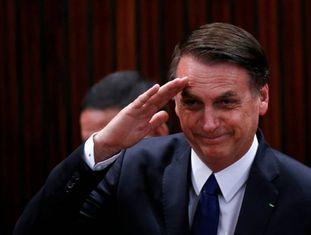 Bolsonaro durante a cerimônia de diplomação no TSE.