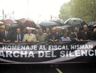 Marcha do silêncio em Buenos Aires pela morte do promotor Nisman.