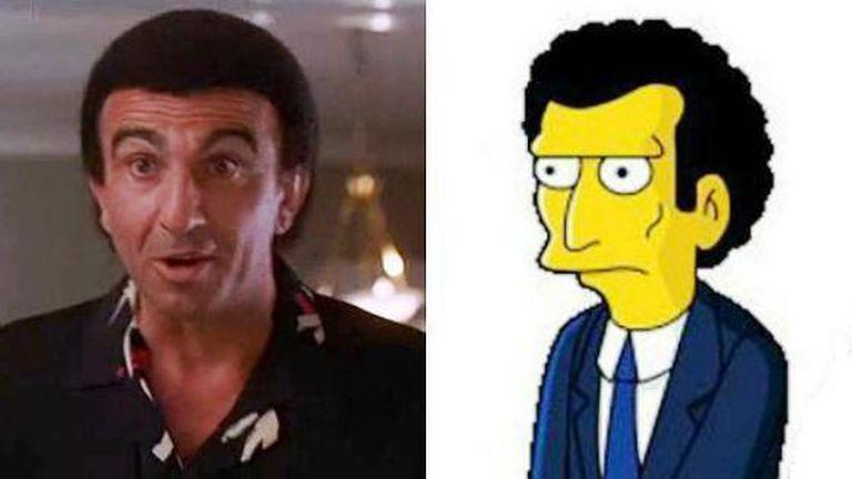 Frank Sivero em 'Uno dos nossos' e o mafioso Louie de 'Los SImpson'.