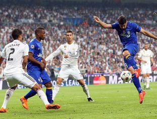 Álvaro Morata marca o único gol da Juventus.