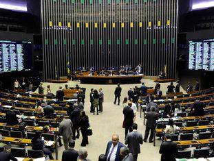 O Plenário da Câmara dos Deputados, em Brasília.