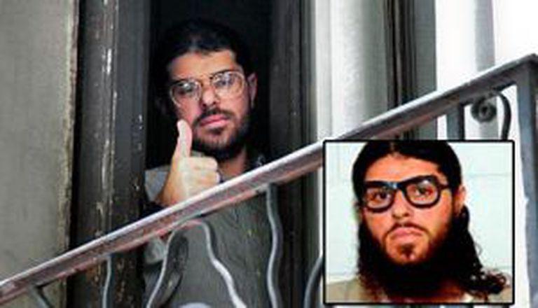 Imagem atual e antiga de um dos presos de Guantânamo.