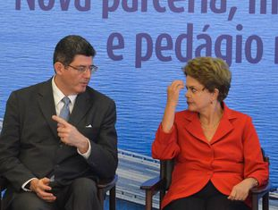 Joaquim Levy e Dilma Rousseff