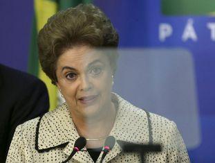 Dilma durante pronunciamento em Brasília.