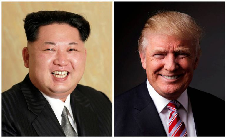 Kim Jong-un e Donald Trump.