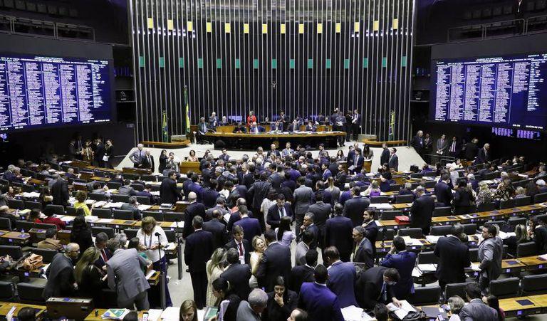 Plenário da Câmara dos Deputados nesta quarta-feira.
