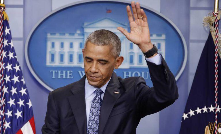 Obama em sua última entrevista coletiva como presidente.