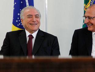 Michel Temer e Geraldo Alckmin, no Planalto, em 2016.