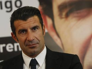 O exjugador do Real Madrid Luis Figo.