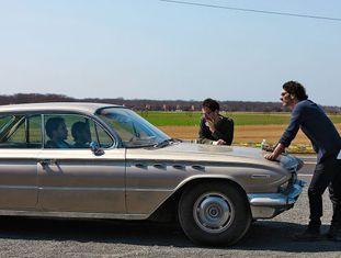 Joel (direita) e Ethan Coen, na rodagem de 'A propósito de Llewyn Davis'.