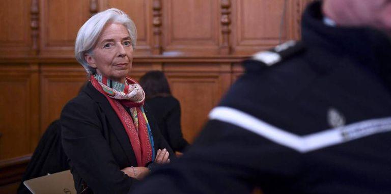 Christine Lagarde, diretora do FMI, no julgamento.