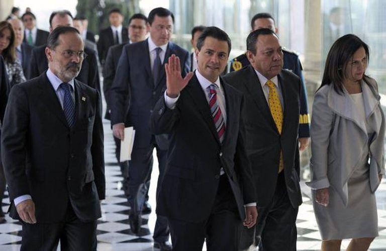 Os integrantes do Pacto pelo México em 2012, quando assinaram o acordo.
