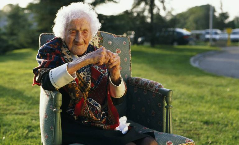 A idosa Jeanne Calment.