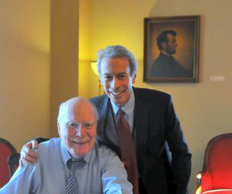 Leahy (à esquerda) com Rieser