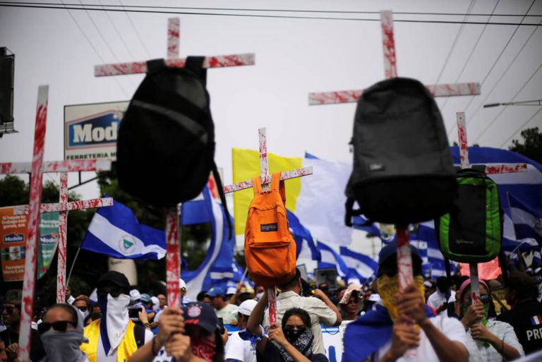 Manifestação em Manágua exige a renúncia de Ortega