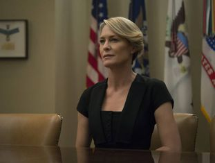 Robin Wright, em 'House of Cards'.