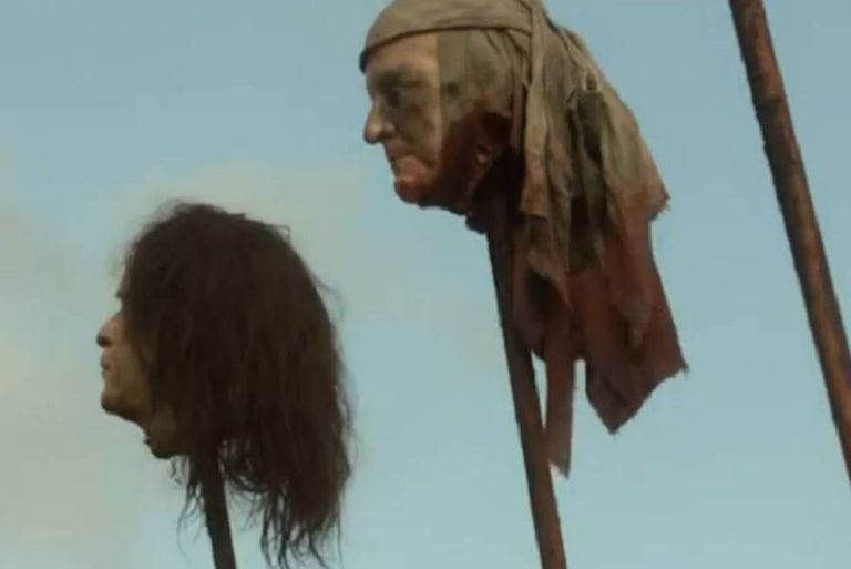 Como reconheceram os criadores, a cabeça do ex-presidente Bush (à esquerda) foi parar sem querer num dos episódios.