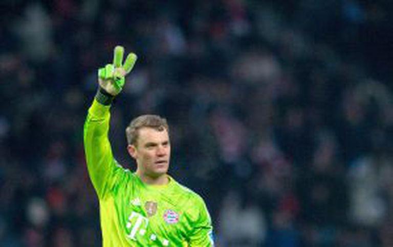 Neuer no fim de semana passado, contra o Hertha BSC.