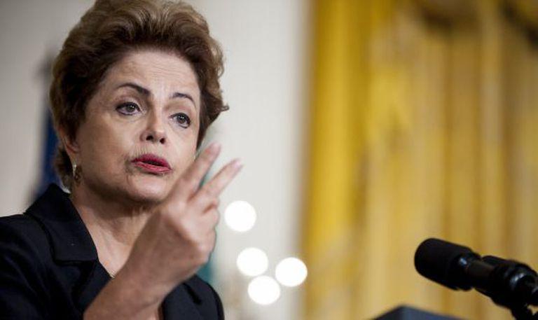 Dilma durante visita aos EUA.