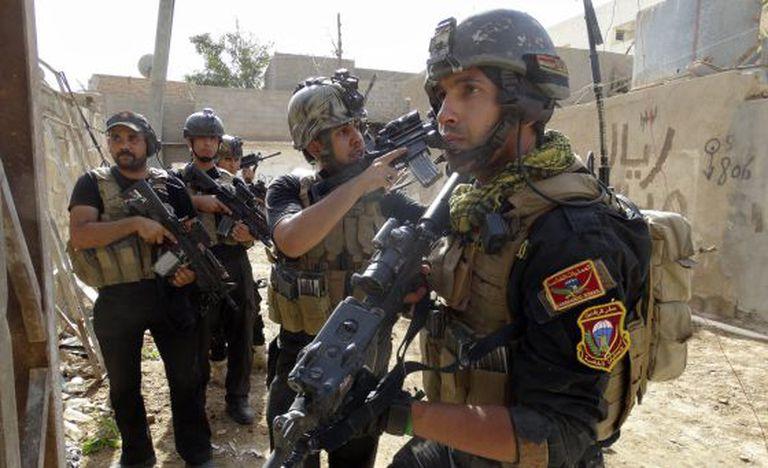 Membros das forças especiais iraquianas em Ramadi.