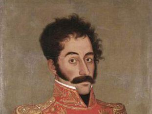 Simón Bolívar, retratado por José Gil de Castro, 1928.