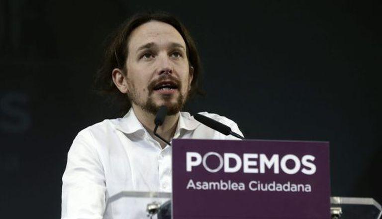 O líder do Podemos, Pablo Iglesias.