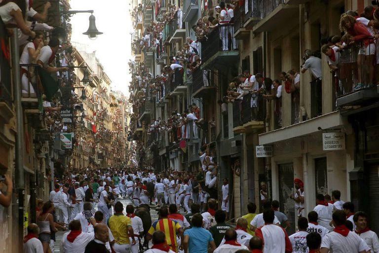 'Encierro' em Pamplona.