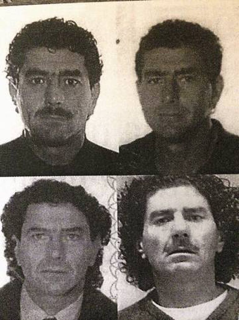 Imagens de Antoni Quinzi facilitadas pela policial. A imagem inferior direita corresponde a sua entrada em prisão.