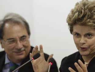 A ex-presidenta do Brasil, Dilma Rousseff, na manhã desta terça-feira em Sevilha (Espanha).