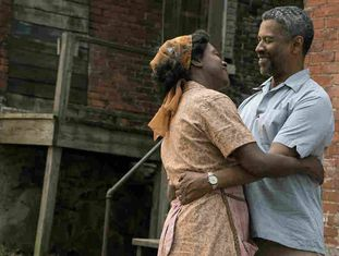 Viola Davis e Denzel Washington, em 'Fences'.