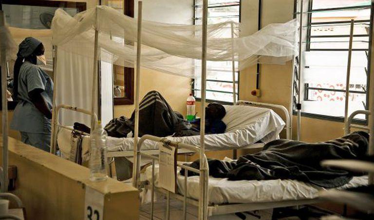 Centro de tratamento do HIV na República Democrática do Congo.