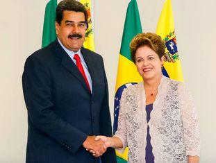 Maduro e Dilma em 2015.