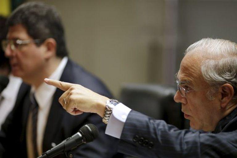 Ángel Gurria, secretário-geral da OCDE, e o ministro Joaquim Levy nesta quarta em Brasília.