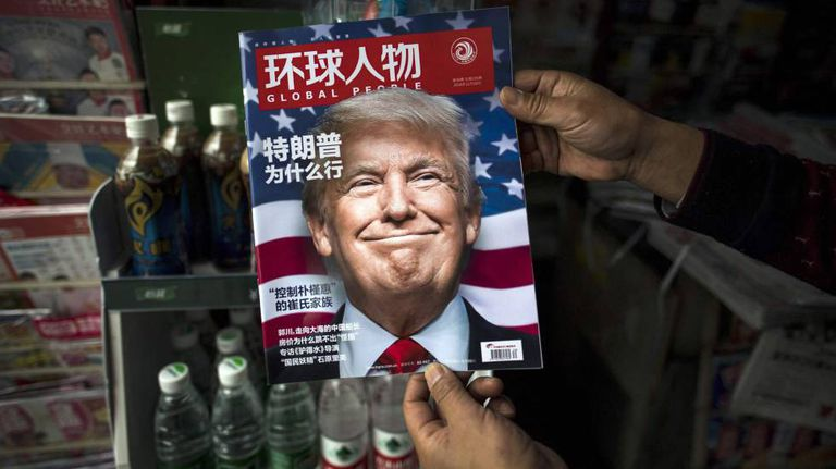 "Trump na revista chinesa ""Global People"""