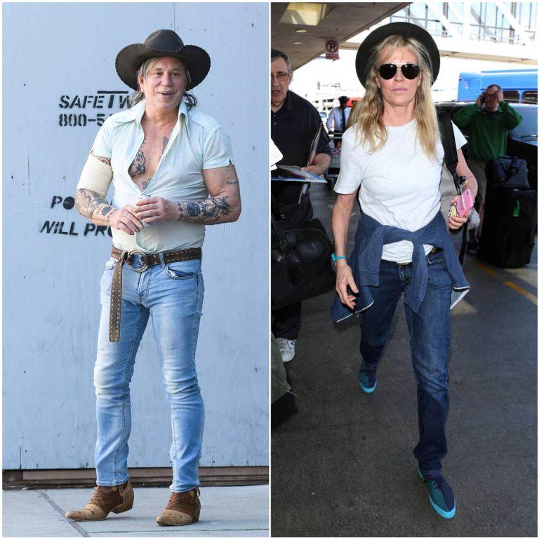 Mickey Rourke e Kim Basinger em imagens recentes.