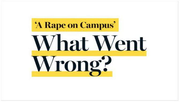 """""""O que deu errado?"""" diz a manchete da página da 'Rolling Stone' na qual foi substituída a reportagem pelo duro relatório que obrigou à sua remoção."""