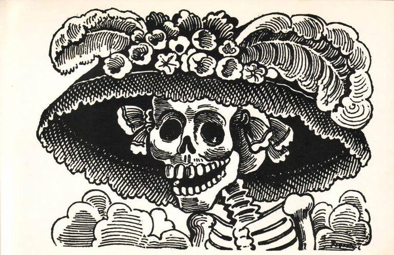 'La Calavera de la Catrina', gravura do mexicano José Guadalupe Posada.