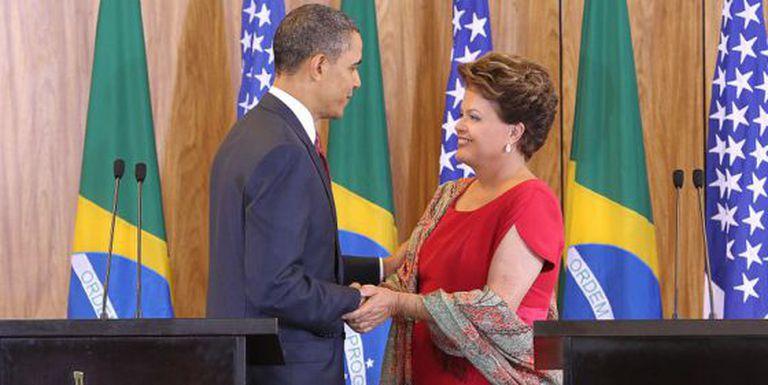 Obama e Dilma durante encontro em Brasília, em 2011.