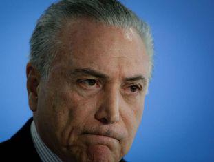 Michel Temer no último dia 02 em Brasília.