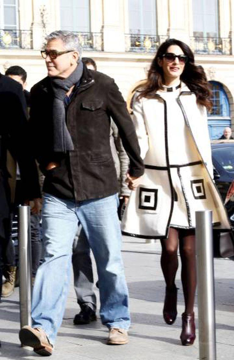 O casal Clooney em Paris