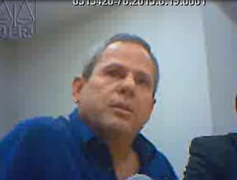 O doleiro Dario Messer, em depoimento no Tribunal de Justiça do Rio, em maio de 2017
