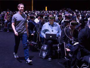 Mark Zuckerberg  durante o Congresso Mundial de Móveis de Barcelona