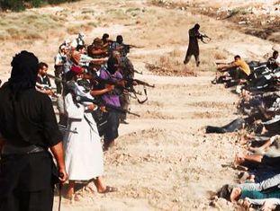 Execuções do EIIL em Tikrit (Iraque) difundidas pela Internet em 14 de junho.