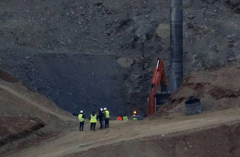 Trabalhos de resgate de Julen, o menino de dois anos que caiu em um poço em Totalán.