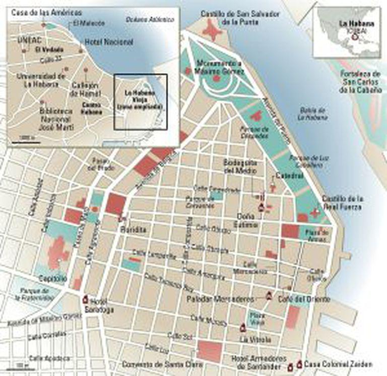 Mapa de Havana.
