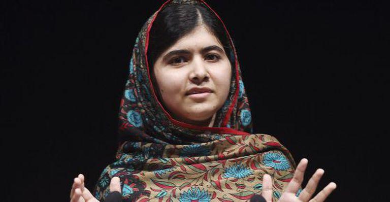 A paquistanesa Malala Yusufzai, em uma entrevista coletiva na Biblioteca de Birmingham, em 10 de outubro de 2014