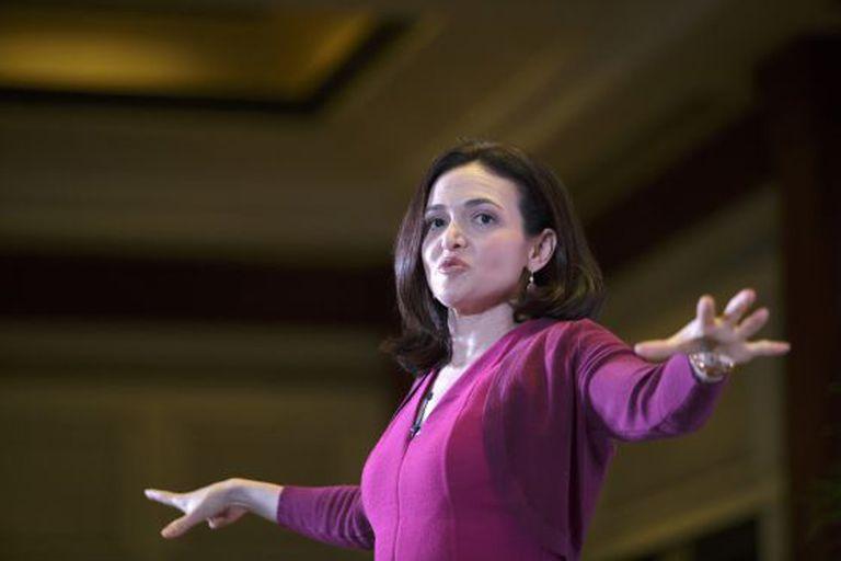 Sheryl Sandberg, número dois de Facebook, em Nova Deli.