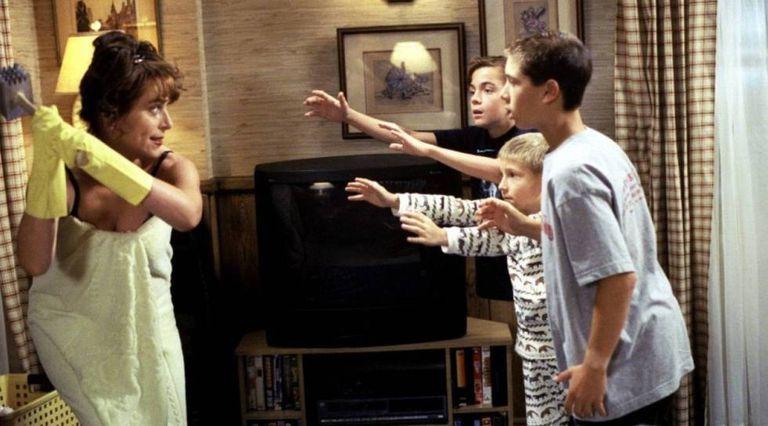 Lois, a mãe da série Malcolm, argumentando racionalmente com seus filhos