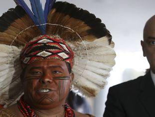 Moraes fala após reunião com indígenas em julho passado