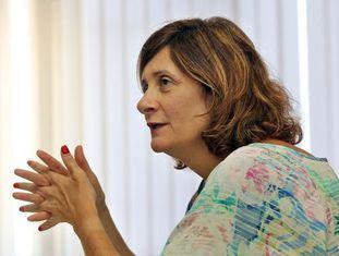 Gianella em uma entrevista, em 2013.